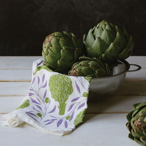Artichokes + Olives Tea Towel