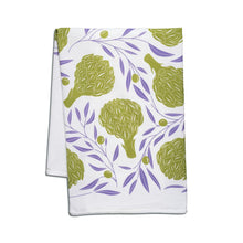 Load image into Gallery viewer, Artichokes + Olives Tea Towel