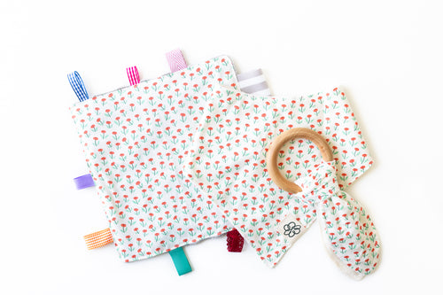 Bunny Ear Teether/ Crinkle Paper/ Baby Bibs