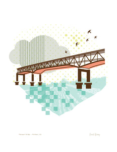 Portland Bridge Print - Marquam Bridge