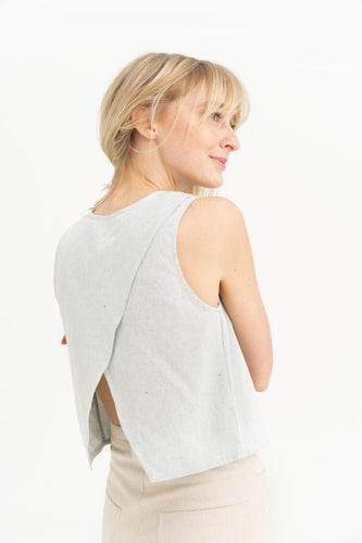 Open Back Tank - Stripe