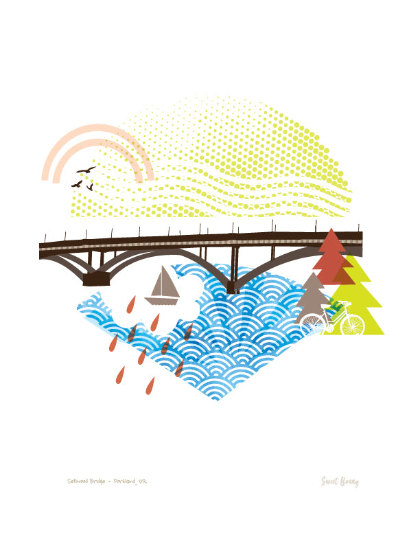 Portland Bridge Print - Sellwood Bridge