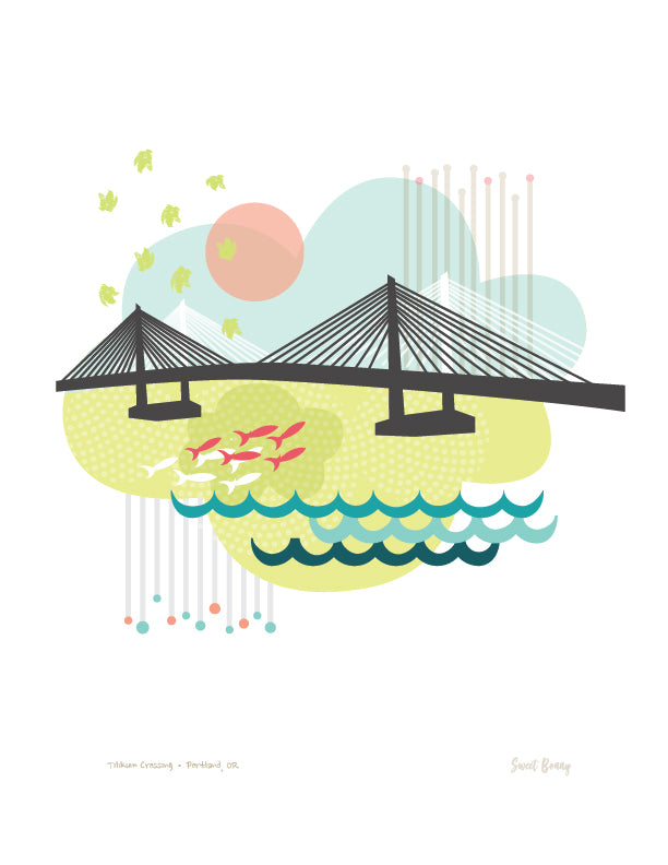 Portland Bridge Print - Tillikum Bridge