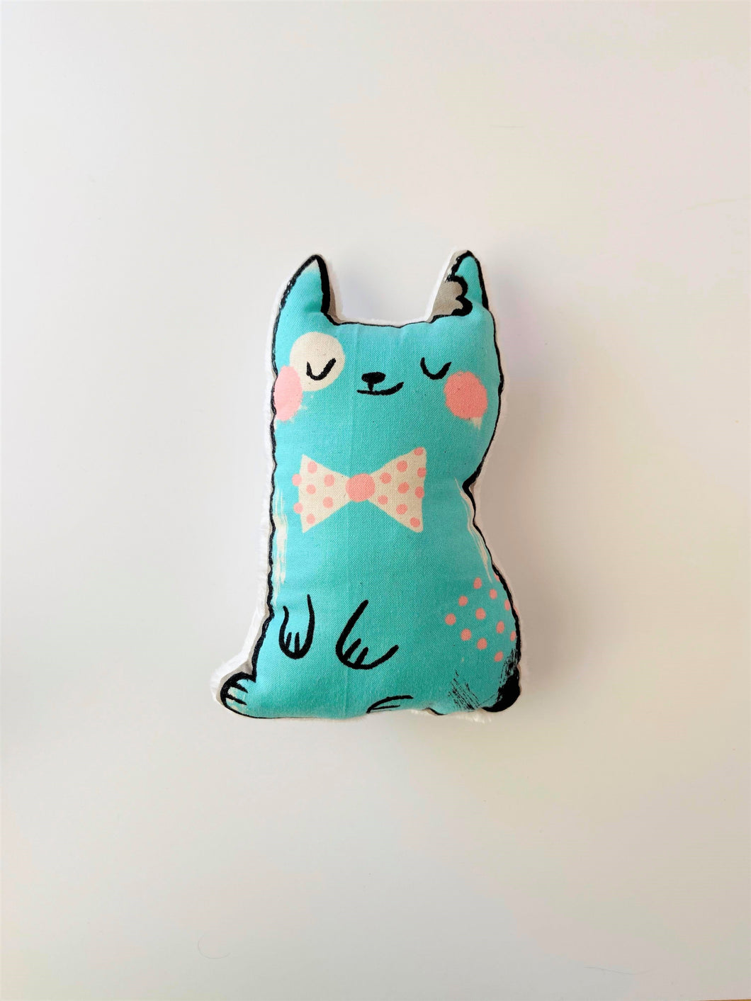 Blue Cat Rattle Toy