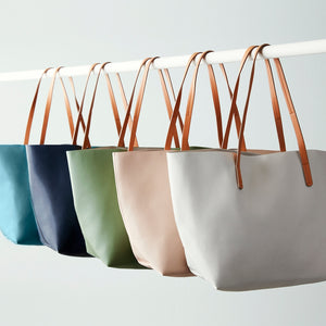 Vegan Leather Tote - Olive
