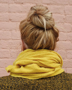 Desert Gold Naturally Dyed Wool Knit Scarf