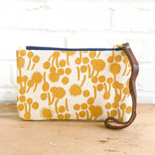 Load image into Gallery viewer, Erin Flett Gold Berries Wristlet Zipper Bag