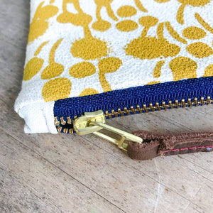 Erin Flett Gold Berries Wristlet Zipper Bag