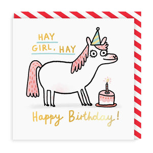 Hay Girl Hay Greeting Card