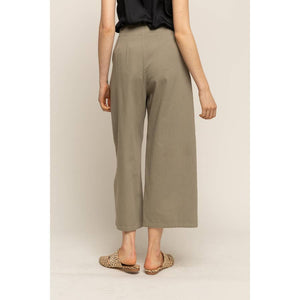 Grade and Gather Pleated Twill Pants Olive