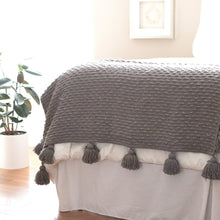 Load image into Gallery viewer, Boucle Woven Throw - Gray