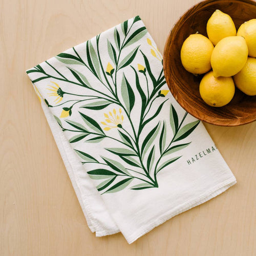 Aster Tea Towel / Kitchen Decor / Midwest Made
