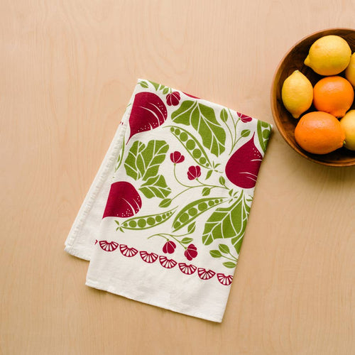 Copy of Aster Tea Towel / Kitchen Decor / Midwest Made