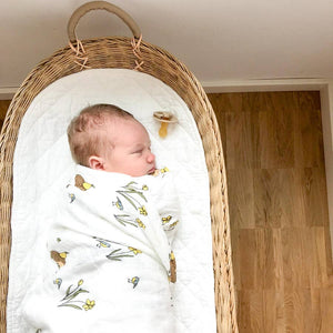 Hedgehog Organic Cotton Muslin Swaddle Blanket | Muslin Wrap