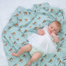 Load image into Gallery viewer, Robin Organic Cotton Muslin Swaddle Blanket | Muslin Wrap