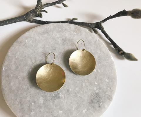 Big brass earrings
