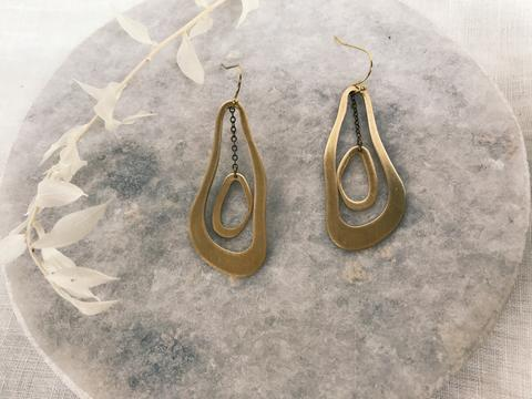 Organic Dangle Earrings