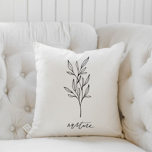 Nurture Wildflower Throw Pillow