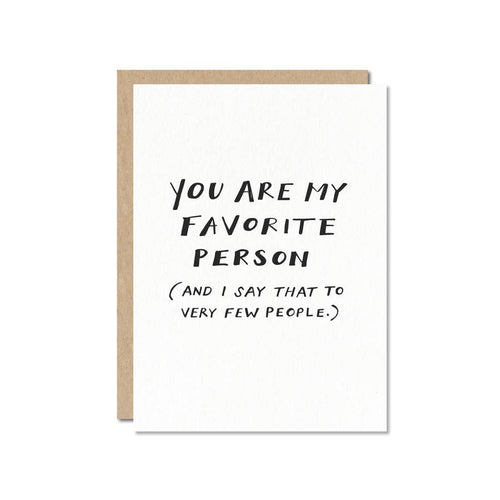 Favorite Person Card
