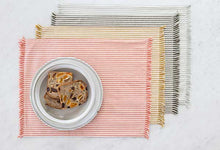 Load image into Gallery viewer, Abby Stripe Placemat Olive Set 4