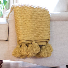 Load image into Gallery viewer, Boucle Woven Throw - Yellow