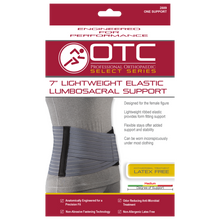 "Load image into Gallery viewer, OTC 7"" Lightweight Elastic Lumbosacral Support #2889"