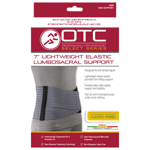 "OTC 7"" Lightweight Elastic Lumbosacral Support #2889"