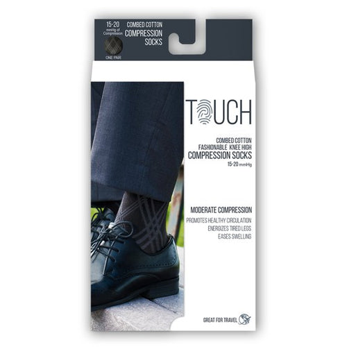 Copy of Touch Combed Cotton Compression Knee High Socks (20-30 mmHg)