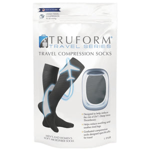 Truform Travel Series Knee High Compression Socks (15-20 mmHg)