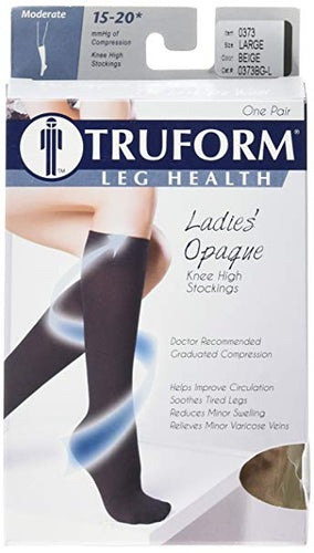Truform Opaque (soft) Ladies' Knee High Compression Socks (20-30 mmHg)