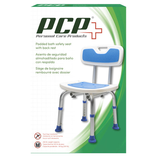 PCP Padded Bath Safety Seat with Back Rest
