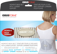 Load image into Gallery viewer, ObusForme Women's Back Belt with Lumbar Support