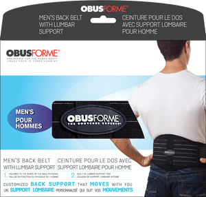 ObusForme Mens's Back Belt with Lumbar Support