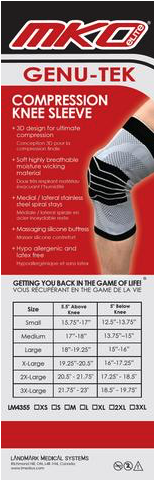 MKO Compression Knee Sleeve
