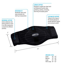 Load image into Gallery viewer, ObusForme Mens's Back Belt with Lumbar Support