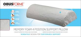 Obusforme Memory Foam 4 Position Support Pillow