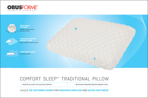 Obusforme Comfort Sleep™ Traditional Pillow