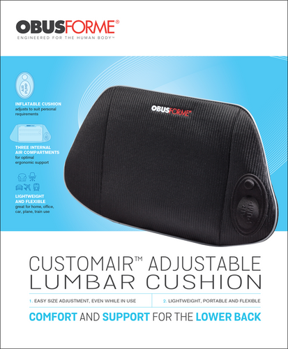 Obusforme Customair™ Adjustable Lumbar Cushion