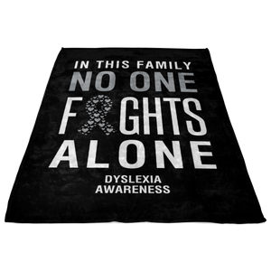 Dyslexia Awareness Blanket