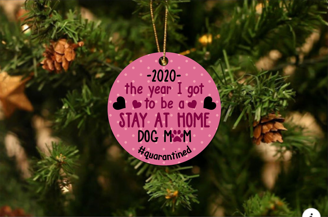 Dog Mom 2020 Christmas Ornament