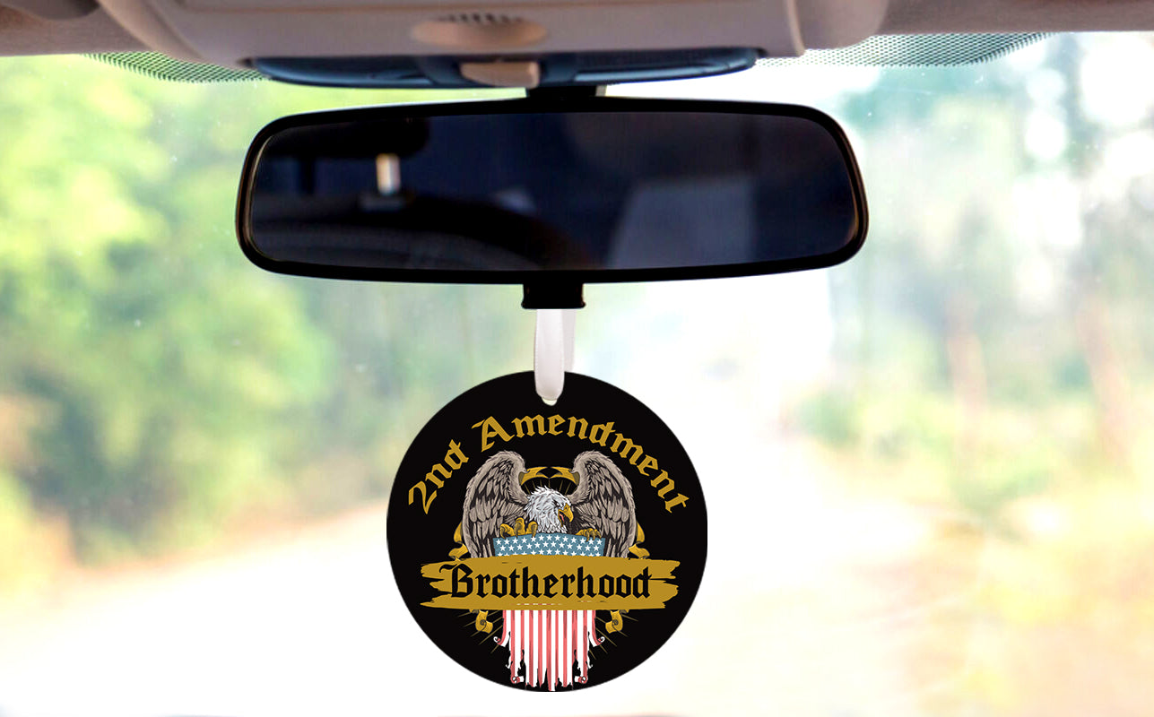 2nd Ammendment Brotherhood Car Ornament