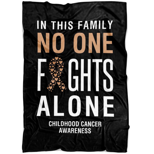 Custom Designed Childhood Cancer Blanket