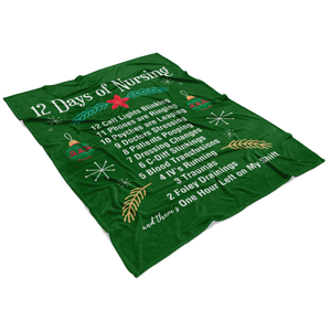 Nursing Fleece Blanket- 12 Days of Christmas
