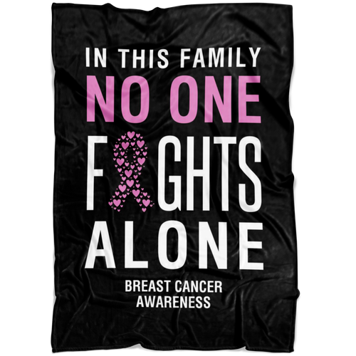 Custom Designed Breast Cancer Awareness Blanket