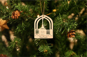 Kona Hawaii Temple Christmas Ornament