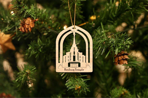 Rexburg Temple Christmas Ornament