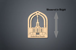 Jordan River Temple Christmas Ornament