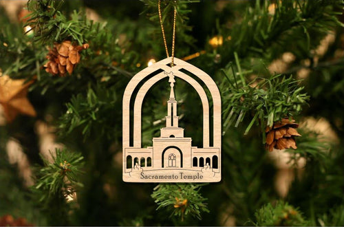 Sacramento Temple Christmas Ornament