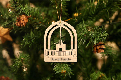 Denver Temple Christmas Ornament