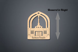 Spokane Temple Christmas Ornament